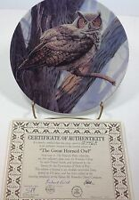 The Majestic Birds The Great Horned Owl Bradford Exchange Plate #3