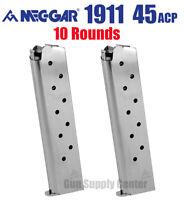 1911 .45 ACP MAGAZINE 10 Rd Mec-Gar Government Clip (Set Of 2) High Quality SAVE