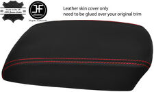 RED STITCH TOP GRAIN LEATHER ARMREST COVER FITS MAZDA CX5 CX-5 2012-2015