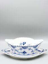 1xgroße Sauciere RC1105 Royal Copenhagen Vollspitze Blue fluted full lace