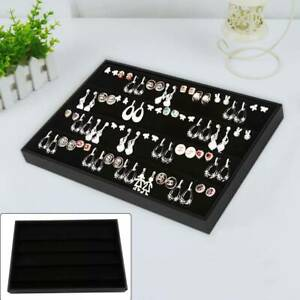 Necklace Bracelet Jewellery Storage Box Tray earring DisplayOrganiser velvet