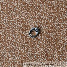 BonEful Fabric FQ Cotton Quilt Brown Tan Calico Natural Dot Scroll Swirl Tone US