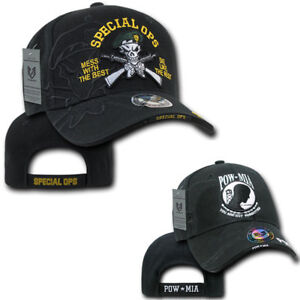 Special Forces Green Beret Ops POW Military Shadow Effect Baseball Hats Caps
