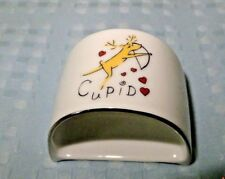 Pottery Barn Reindeer Napkin Ring Cupid