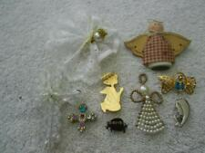 ANGEL CROSS BROOCH PIN LOT RELIGIOUS JESUS FIRST MOTHER MARY