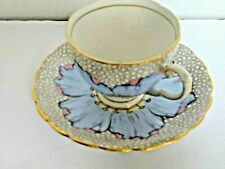 Tuscan Fine English Bone China Cup & Saucer with Makers Mark  Blue Poppy C6359