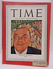 Aug 5, 1946 TIME Magazine- Montreal's Mayor Camillien Houde -News/Photos/Ads