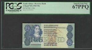 South Africa 2 Rand ND(1983-90) P118d Uncirculated Graded 67