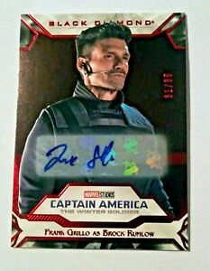2021 MARVEL BLACK DIAMOND FRANK GRILLO AS BROCK RUMLOW AUTO # 31/35