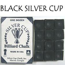 1 x BOX OF BLACK SILVER CUP Pool Cue Chalk !!! eofy 2017