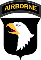 """101st Airborne Division Patch 5.5"""" Sticker 'Officially Licensed'"""