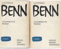 Erstausgabe: Benn Gottfried: Gesammelte Werke Goldprägung Schutzumschlag WG 52