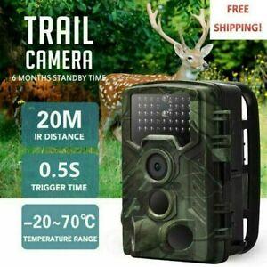 20MP 1080P Wildkamera mit Bewegungsmelder Nachtsicht Wildtierkamera mit Micro SD