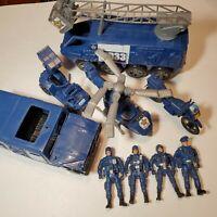 Plastic Policeman Set with Vehicles & Police SWAT Figures