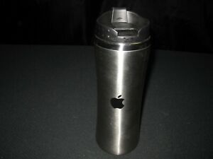 APPLE Employee STEEL TRAVEL MUG Tumbler Gray Coffee ~ 7522