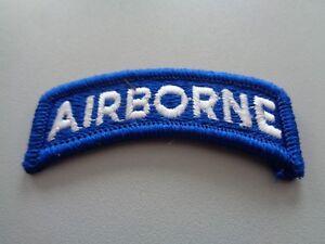 US Airborne Tab Aufnäher Patch Blau Weiß