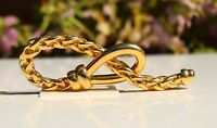 BROOCH, Love Knot, gold tone