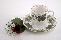 Mocca- oder Espressotasse Royal Worcester Fine Bone Porzellan Hopfen 2teilig
