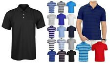 BRAND NEW MENS PLAIN POLO SHIRT SPORTS GOLF T-SHIRT CASUAL POLO TOP ALL SIZES