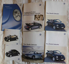 VW BEETLE 7 Brochure lotto Opuscolo Depliant 2003 2005 Volkswagen Cabriolet