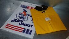Vintage Safety Cycling Jacket Yellow Cherry Intl Kid Size 12 kids childs NOS
