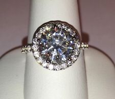 4cttw 3ct center NSCD SONA Diamond Round cut wedding engagement ring!! BRILLIANT