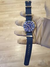 Mens Submariner Homage Watch Blue smurf Automatic STERILE DIAL😍 blue nato