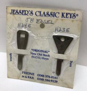 Ford EDSEL 1958  Jesser's Classic Keys Ignition, Trunck H24E, H23E, NEW