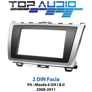 fit Mazda 6 GH car stereo radio Double 2 Din fascia dash panel facia kit trim