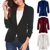 Fashion Women OL Style Long Sleeve Blazer Elegant Slim Suit Casual Jacket Coat