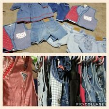 Vintage girl/boy dress/overalls Lot Of 50 Guess/Oshkosh/Levis Various Sizes