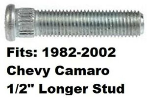 """1/2"""" Longer Than Stock WHEEL STUD BOLT 1982-2002 Chevrolet Camaro Length 54mm  @"""