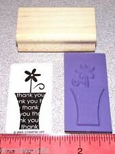 Thank you Rubber Stamp Daisy Flower in Vase New Single by Stampin Up Oh My Word
