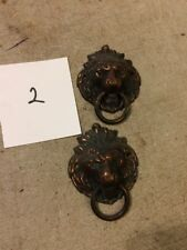 SETH THOMAS  MANTLE CLOCK LIONS HEAD SIDE DECORATIONS