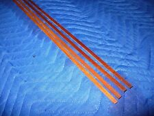 Koa solid wood guitar binding strips, 4 pieces. Moderate Curl (K31411)
