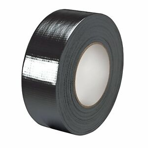 BIG ROLLS OF BLACK CLOTH DUCT GAFFER GAFFA TAPE48MM X 45M STRONG WATER RESISTANT