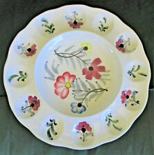 Embassy Quality Products Deviled Egg Plate w Pretty Flowers