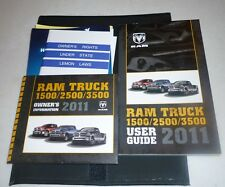 2011 DODGE RAM USER GUIDE OWNERS MANUAL SET w/case 11 DVD 1500 2500 3500
