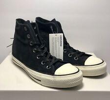 Converse Womens Size 7 CTAS Hi Tri Zip Black Burnished Suede Shoes Sneakers