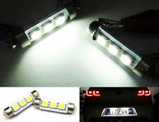 2x 6418 6411 Canbus White 3 SMD LED License Plate Light Festoon For VOLKSWAGEN