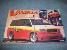 "1997 Chevy Astro Van Custom Article ""Vanzilla"""