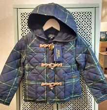 Ralph Lauren Polo Quilted Hooded Tartan Girls Winter Coat 4 Xmas 7Yrs NWT Free&P