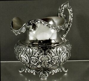 Chinese Export Silver Pitcher      c1840 Kecheong