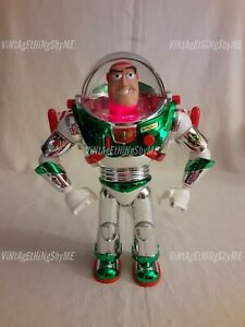 DISNEY Talking Buzz Lightyear Holiday Hero ACTION FIGURE Hard 2 Find All Working