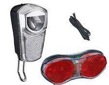 Fahrrad LED Lichtset f.Seitenläufer-Dynamo 35 LUX Scheinwerfer, Rücklicht, Kabel
