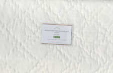 Pottery Barn Washed Velvet & Silk Diamond Full/Queen Quilt Ivory NIP