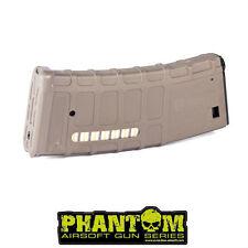 Caricatore monofilare per m4 Phantom 70rd P-Mag tan in polimero per Softair