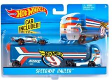 HOT WHEELS SPEEDWAY HAULER BIG RIG SEMI TRUCK with CAR
