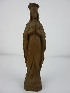 ANCIENNE STATUETTE VIERGE NOTRE DAME DE LOURDES XIXe XXe STATUE MARIE RELIGION