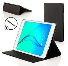 Piel Negro Smart Funda para Samsung Galaxy Tab A 9.7 T550 + Lápiz óptico